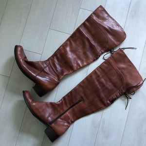 Shoes - Italian Knee High Leather Boots - Size 39